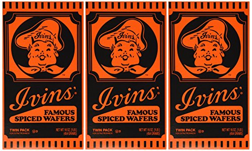 Ivins Famous Spiced Wafers 16 Oz Twin Pack of -