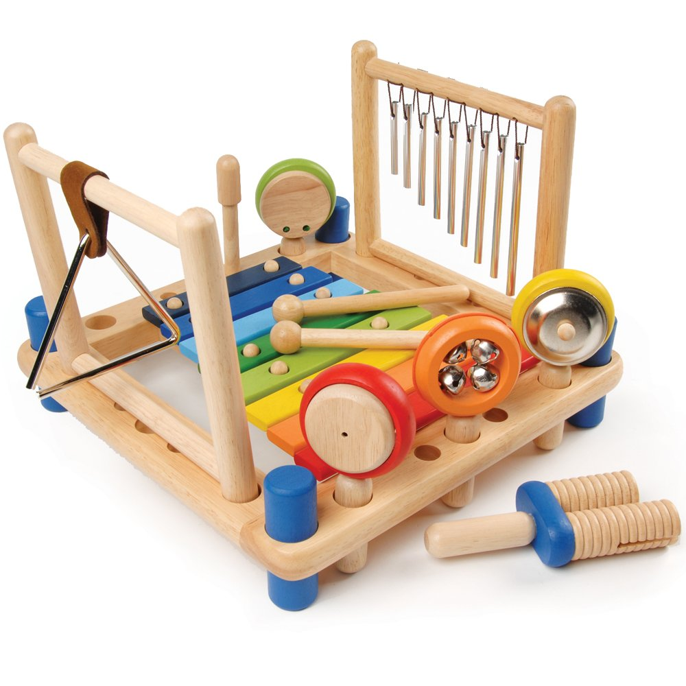 CP Toys Wooden Music Center with Melody Instruments / 10 pc. Set
