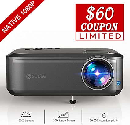 WiMiUS Newest P28 6500 Lumens LED Projector Native 1920x1080 Video Projector Support 4K Dolby 300/'/' Screen 4D /±50/°Keystone Correction for Home Theater and PPT Presentation Projector