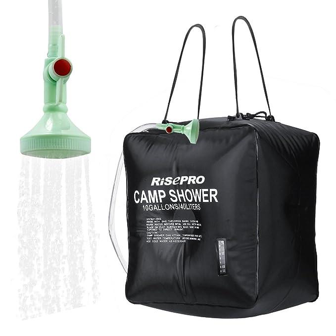 Amazon.com: RISEPRO, bolsa para ducha solar, de 10 galones ...