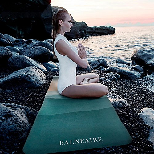 YOOMAT Caoutchouc naturel Tapis de Yoga Tapis de fitness pour le dérapage et l'allongement et l'épaississement Suede