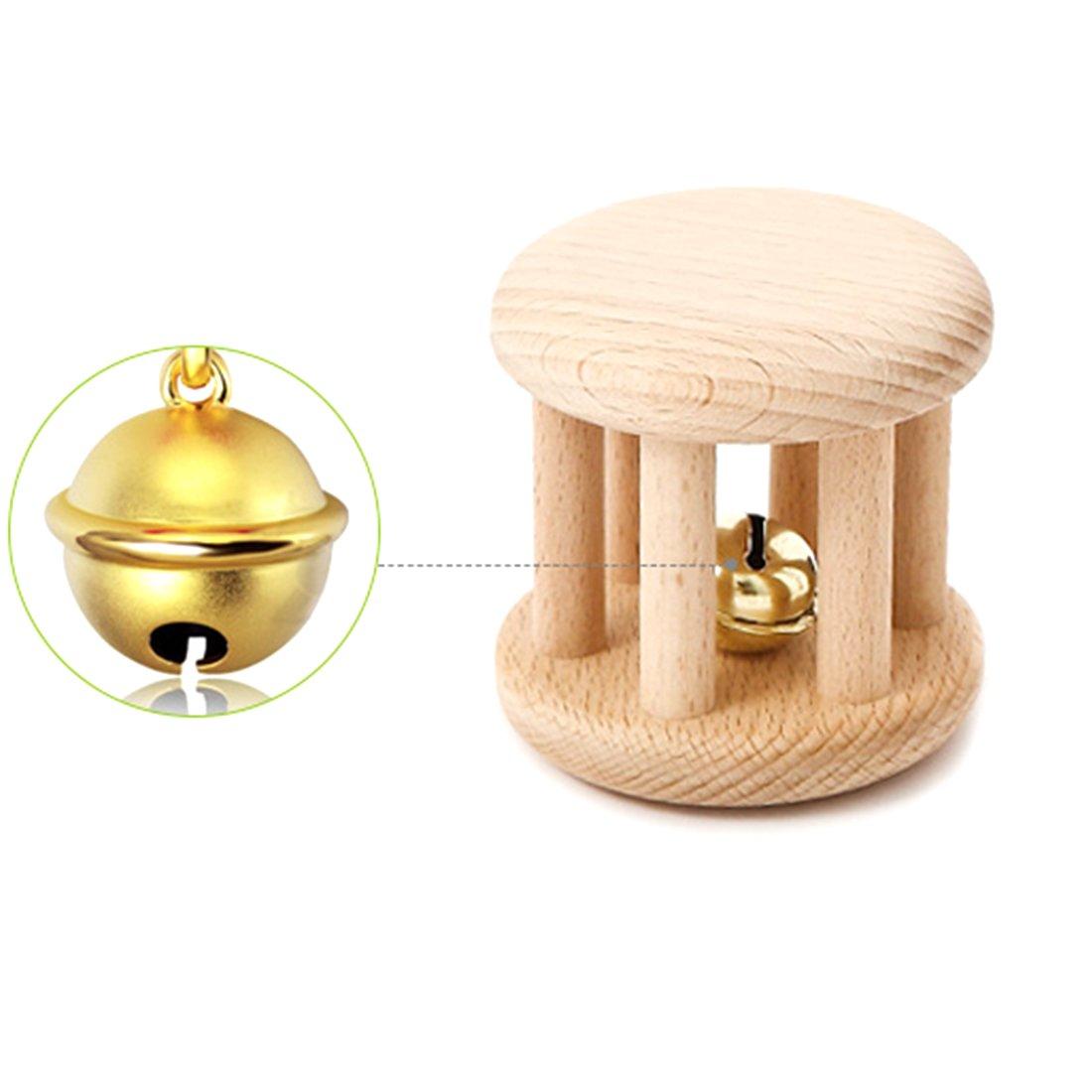 Coskiss Juguetes para rompecabezas Desarrollo intelectual de los niñ os Montessori juguetes Set Enfermerí a de dientes de madera de sonajeros Baby divertido e interesante juguete (chico)