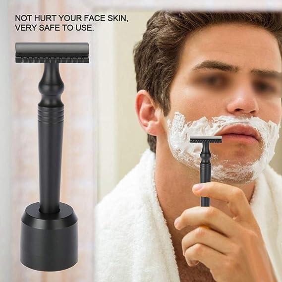 Afeitadora de seguridad: para bigote de cuchilla manual, juego de ...