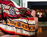 "Cozy Fleece Oversized Southwestern Throw with Reverse Sherpa, 60 x 80"", Warm"