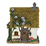 Mini Dollhouse FAIRY GARDEN Accessories - Whimsy Flower Vine Roof Cottage - Supplies Acces...