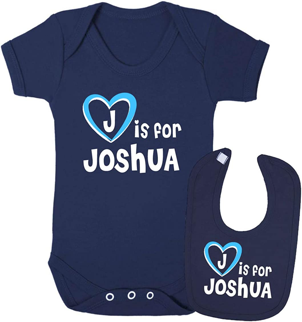 J is for Joshua Baby Gift Set Bib and Vest