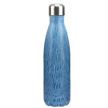 FunnyGuys Regalos Grabados Personalizados de la Botella de Agua de Doble Pared del Acero Inoxidable para el cumpleaños 500ml / 17oz de la Dama de ...