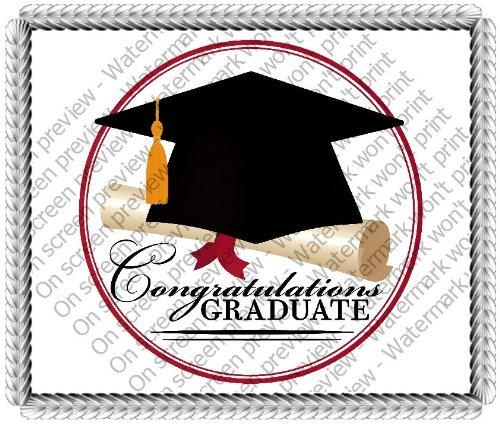 Graduation Icing - 1/8 Sheet ~ Congratulations Graduate Graduation Cap ~ Edible Cake/Cupcake Topper!!!