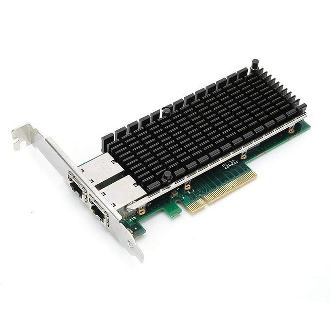 Tosuny Tarjeta de Red PCI-E X8 10 Gigabit Ethernet Server, Tarjeta ...