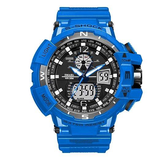 Relojes de marca para hombre Reloj digital único con luz: Amazon.es: Relojes