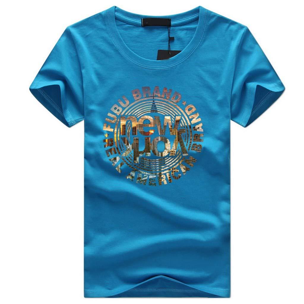 UJUNAOR T Shirt Uomo Divertenti di Cotone Manica Corta Stampa Graphic Fashion Casual 2019
