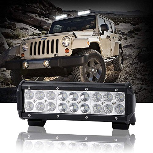TURBOSII 54W Led Light Bar 9 inch 12V Led Light Spot Flood Combo Work Light Bar Daytime Driving Lights Fog Lights For ATV UTV Jeep Offroad Truck Golf Cart Boat