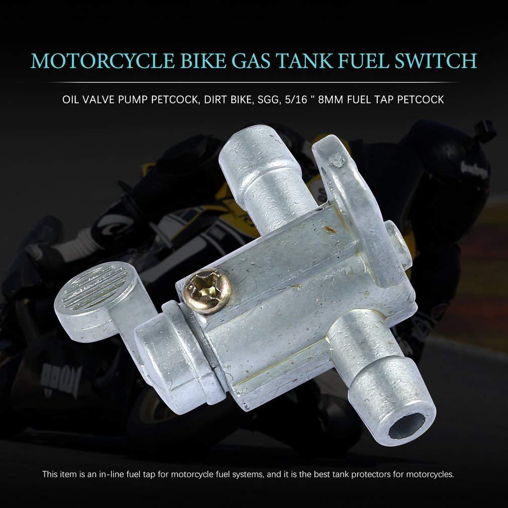 Leoboone Motorrad Fahrrad Gastank Kraftstoffschalter /Ölventil Pumpe Benzinhahn Dirt Bike SGG 5//168mm Benzinhahn Benzinhahn
