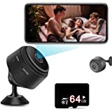 Mini Spy Cameras Hidden (with 64G SD Card), 1080P HD Small Portable Wireless Tiny Nanny Cam, Home Security Surveillance…