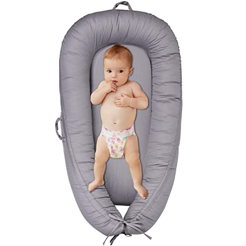 YINUODAY Baby Lounger Portable Baby Bed Co Sleeping Bassinet Infant Sleeper Baby Crib Nursery Travel Folding Baby Bed Bag