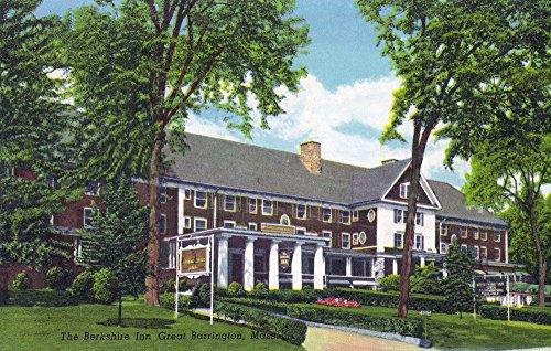 Great Barrington, Massachusetts - Exterior View of the Berkshire Inn (36x54 Giclee Gallery Print, Wall Decor Travel Poster)