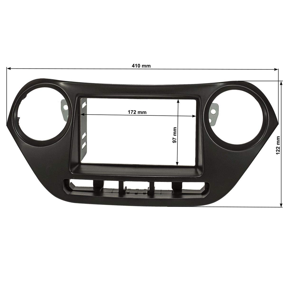 Hyundai ix35 Autoradio Blende Einbau Rahmen Doppel 2-DIN Radioblende Halterung