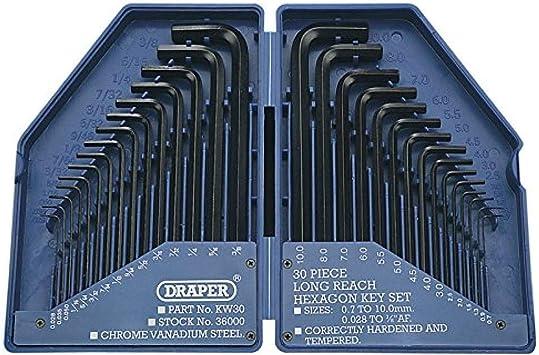 Draper 28744 - Estuche de llaves allen (30 piezas): Amazon.es: Bricolaje y herramientas