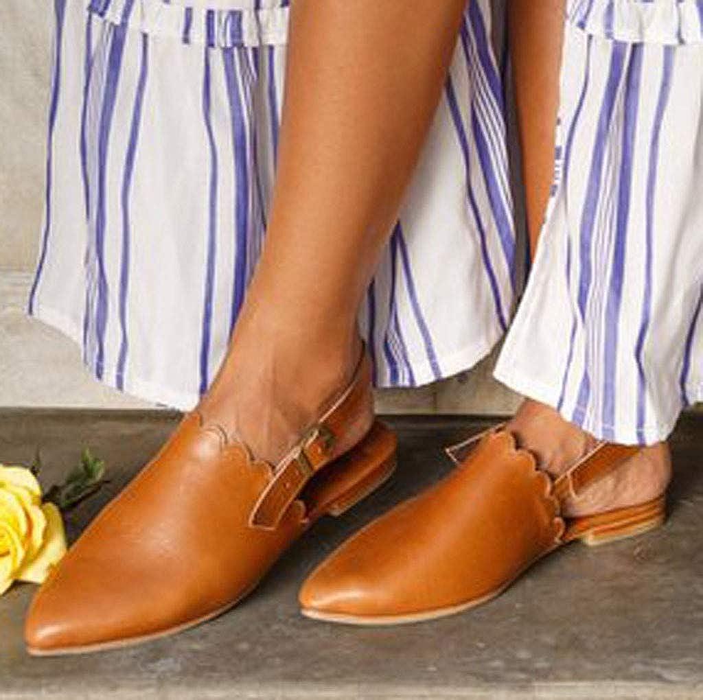 Shoes for Women,Sunyastor Women/'s Platform Slippers Slingback Mules Dress Sandals Elegant Pointed Toe Flats Casual Shoes