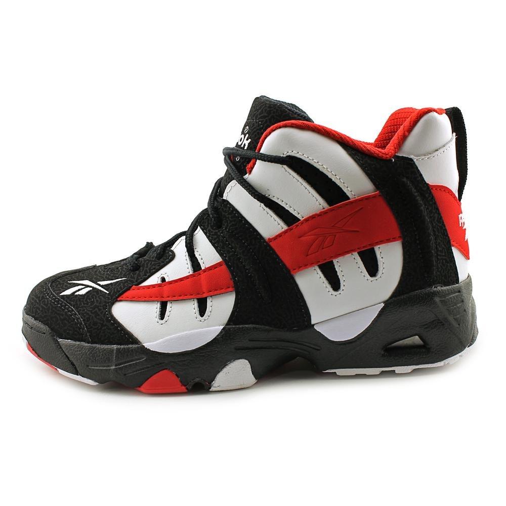 93419e79134 Reebok Rail Youth Boys Black Leather Basketball Shoes Size New Display UK  6  Amazon.co.uk  Shoes   Bags