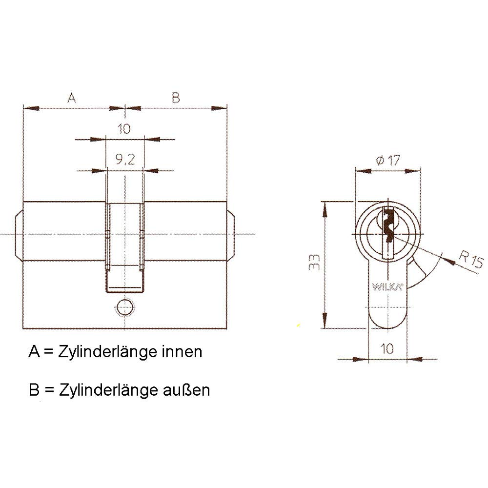WILKA 1400 Profilzylinder  — 12 1 = 13 Schlüssel