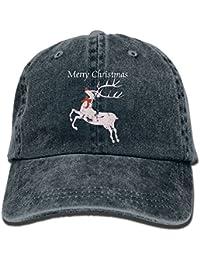847c089e8c2f6 Xfesk-74 Vintage Christmas Reindeer Unisex Cotton Denim Baseball Cap  Adjustable Snapback Topee For Men Women