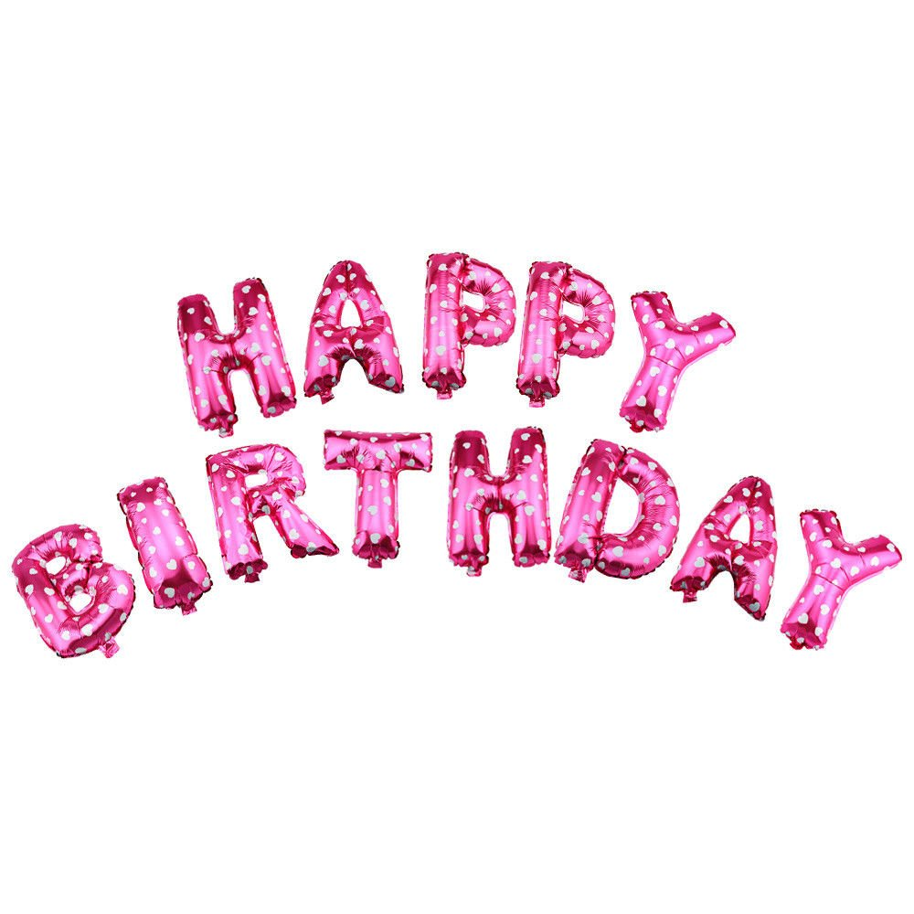 13pcs Happy Birthday文字Shaped 16