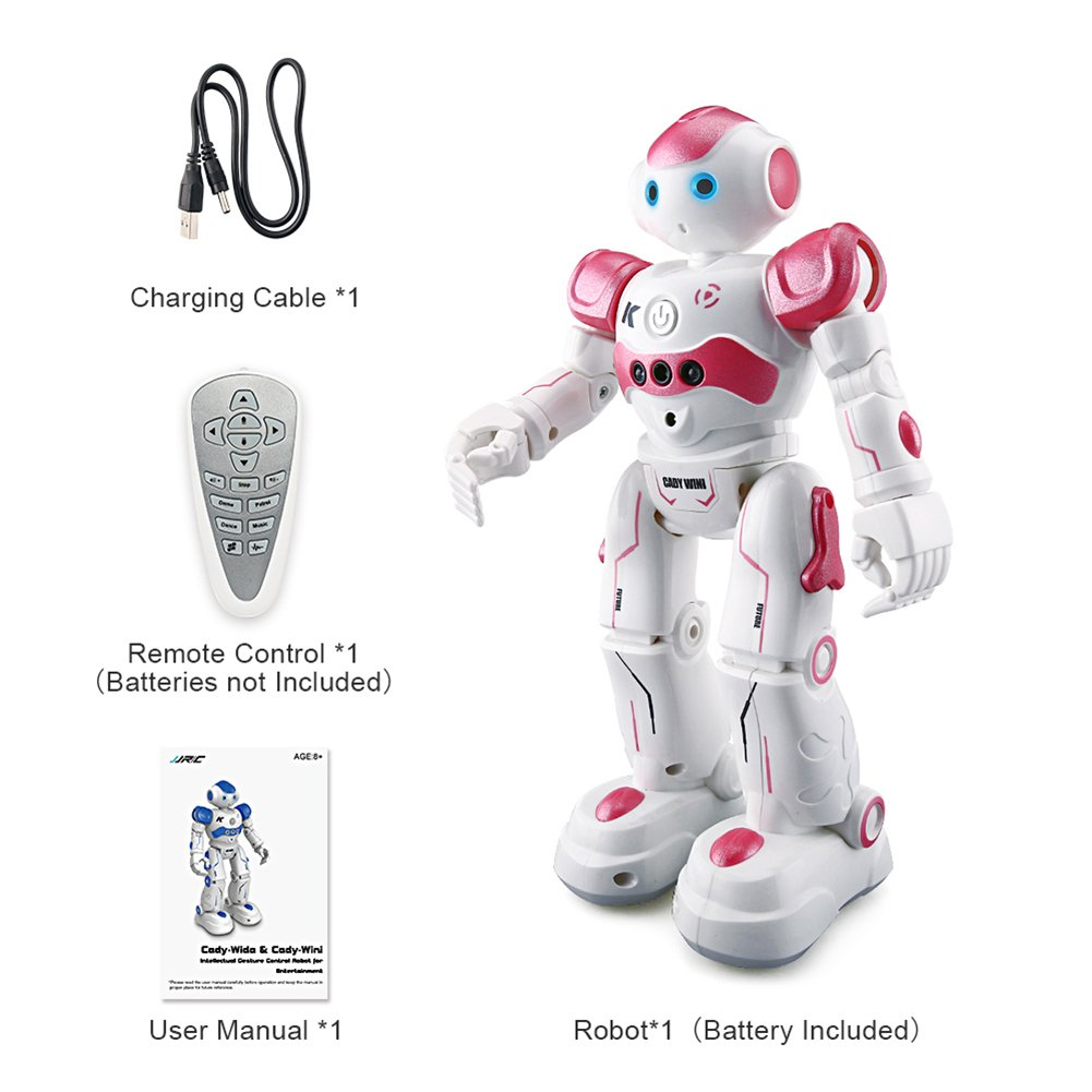 BTG R2 Cady-Wida Cady-WINI Intelligent Gesture Sensor Control RC Robot for Entertainment - Walks in All Direction, Slides, Turns Around, Dances - Toy for Boys/Girls RED by BTG (Image #8)