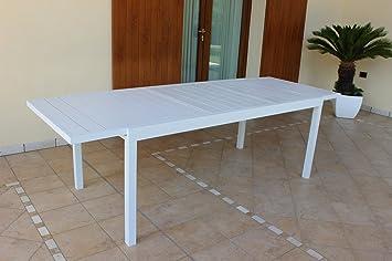 Amazon De Gartentisch Ausziehbar 200 300 X 100 Cm Mit 4 Stuhlen