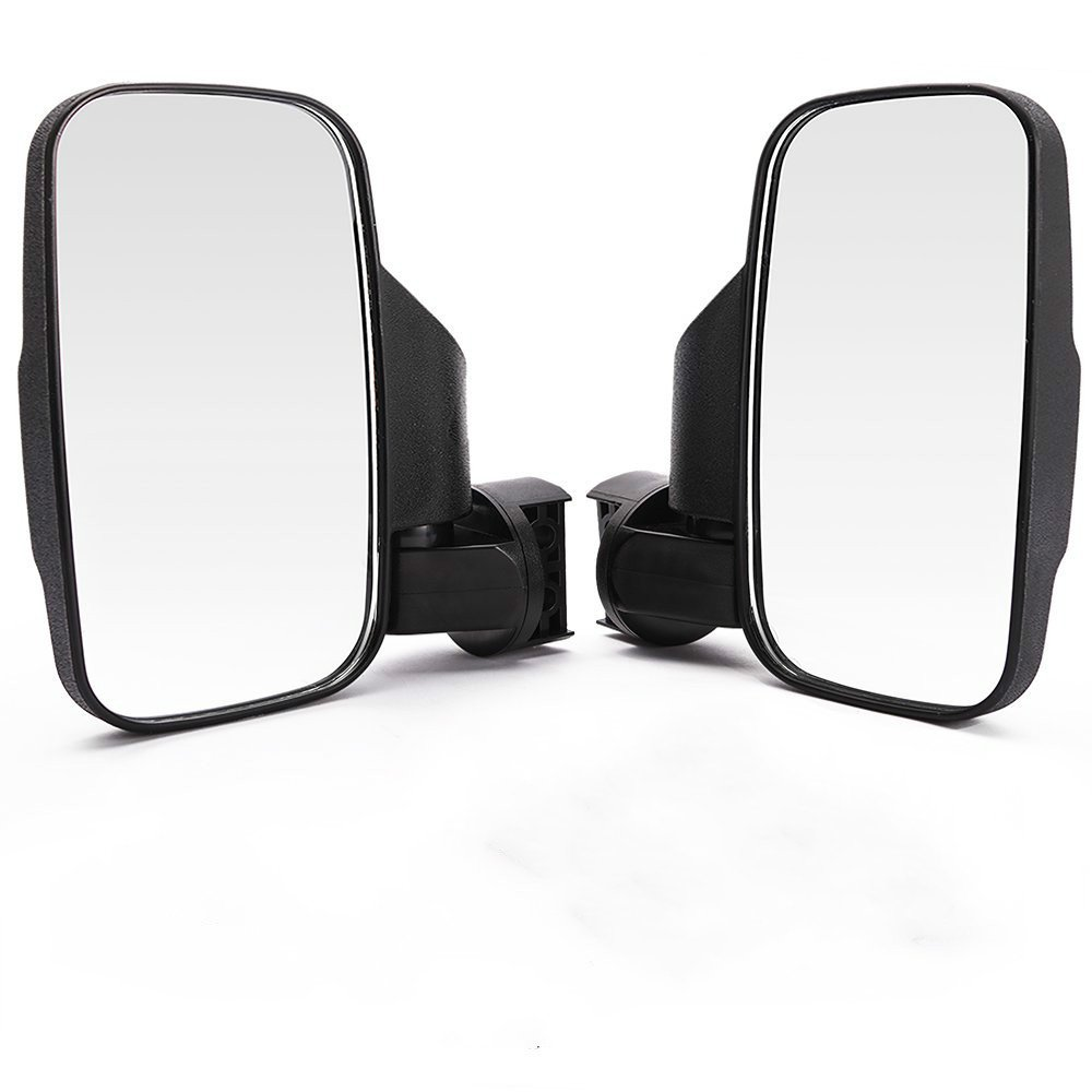 OKSTNO Set of 2 UTV Rear View/Side Mirror Break Away Offroad Mirrors for 1.5-2 Inch Mount Polaris RZR 900S XP 1000 Can Am Maverick X3 John Deere Gator Mirrors