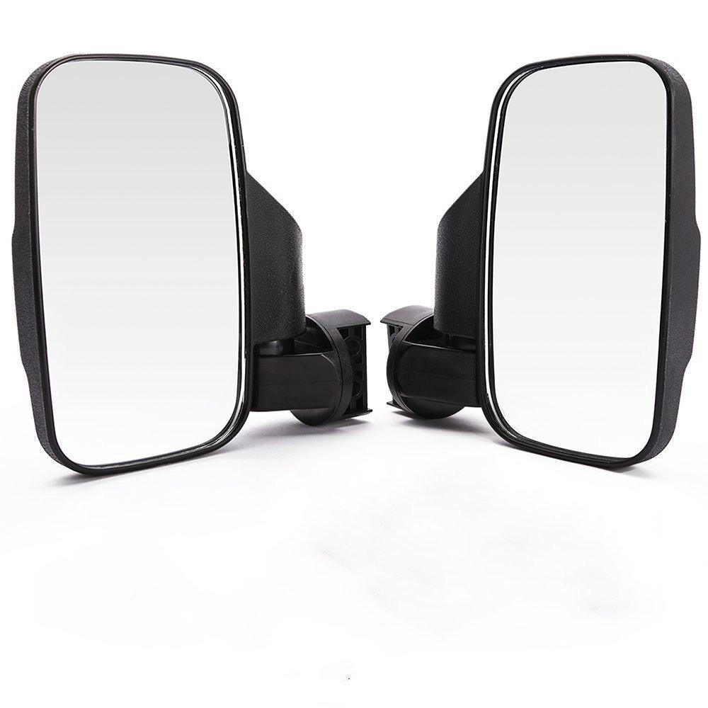 OKSTNO Set of 2 UTV Rear View / Side Mirror Break Away Offroad Mirrors for 1.5 - 2 Inch Mount Polaris RZR 900S XP 1000 Can Am Maverick X3 John Deere Gator Mirrors