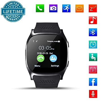 Bluetooth Smart Watch, KeepGoo Reloj Inteligente de pulsera ...