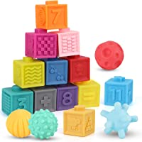 Nueplay Baby Blocks Toys Early Learning Building Blocks Ball Set Teethers Babies Bath Toys Squeeze Play with Numbers…