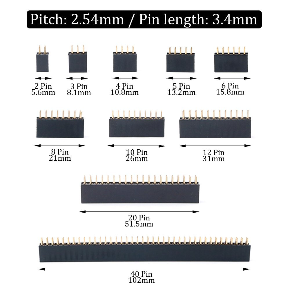 Smart Electronics Consumer Electronics 100pcs 2x6 Pin 12p 2.54mm Double Row Female Straight Header Pin Strip Discounts Sale