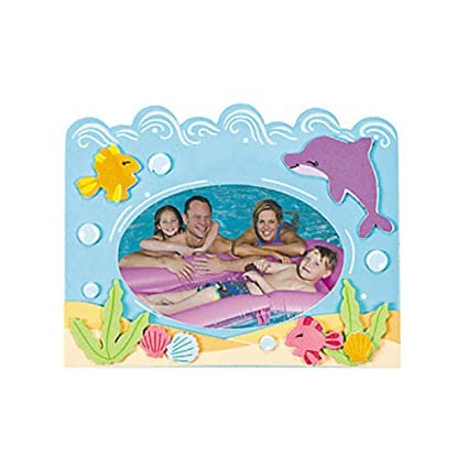 Amazon.com: 12 ~ Foam Under the Sea Picture Frame Magnet Craft Kits ...