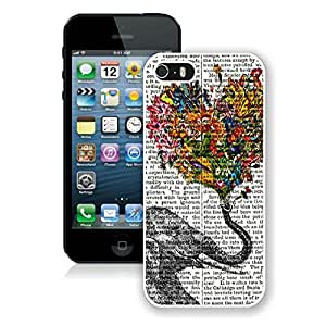 Custom Iphone 5s Case Custom Cheap Iphone 5 White Cover Vintage Newspaper Aztec Elephant Floral Trunk Design Rubber