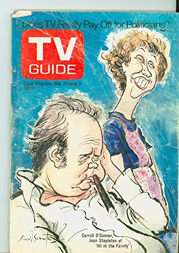 1972 TV Guide May 27 All in the Family - Montana Edition NO MAILING LABEL Fair to Good (1 3/4 out of 10) Heavily Used by Mickeys Pubs