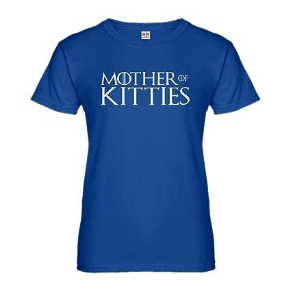Indica Plateau Madre de los Gatitos de la Camiseta para Mujer - Azul -