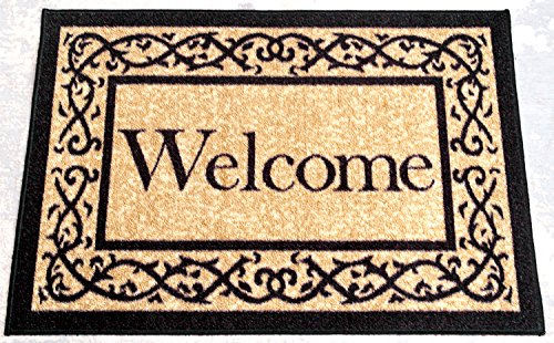 "Ottomanson Ottohome Collection  Welcome Door Mat Rug, 20"" x"