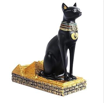 WSPXGYP Artesanías Gato Egipcio Creativo Europeo Dios Retro Red Wine Rack: Amazon.es: Hogar