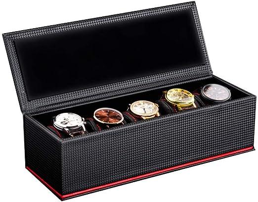 GOVD Caja Relojes Hombre 5 Compartimentos para joyero Relojes ...