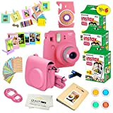 Fujifilm Instax Mini 9 Instant Camera FLAMINGO PINK w/ Fujifilm Instax Mini 9 Instant Films (60 Pack) + A14 Pc Deluxe Bundle For Fujifilm Instax Mini 9 Camera