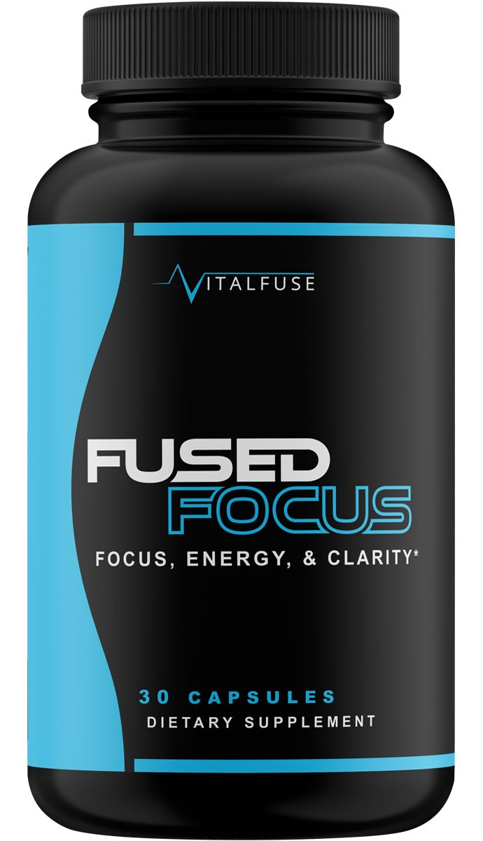 Extra Strength Brain Supplement Nootropic - Caffeine Pills for Focus, Alertness & Energy, Natural & Time Release by VitalFuse