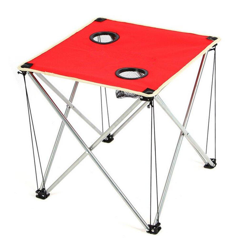 LBAFS Faltender Tisch-Oxford-Stoff Im Freien Verdickender Schemel-Ultra Heller Tragbarer Reise-Grill-Strand-Kampieren,rot