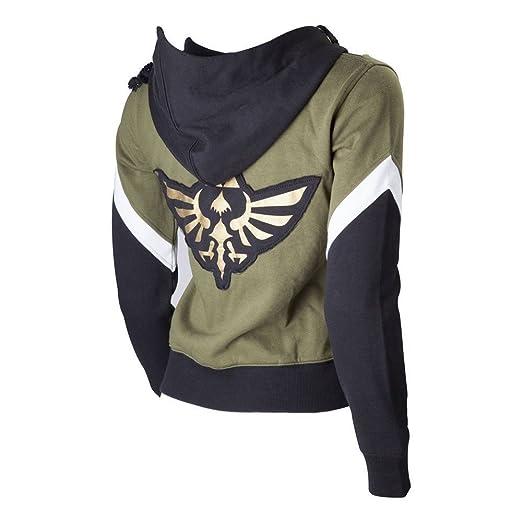 95138073111f Amazon.com  Official Womens Zelda Crest of Hyrule Zip Up Hoodie ...