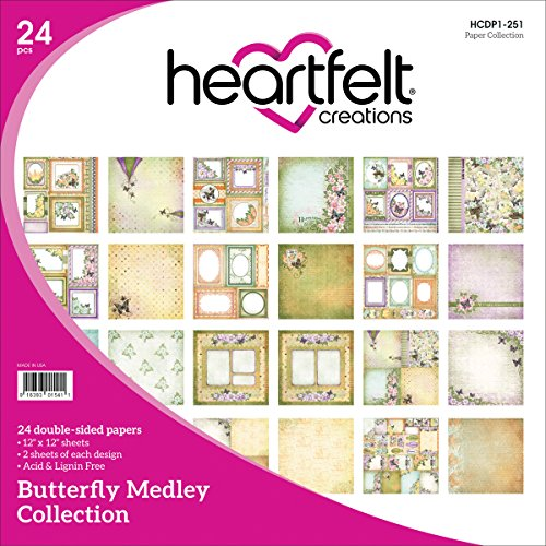 Heartfelt Creations Butterfly Medley, 12 Designs/2 Each Double-Sided Paper ()