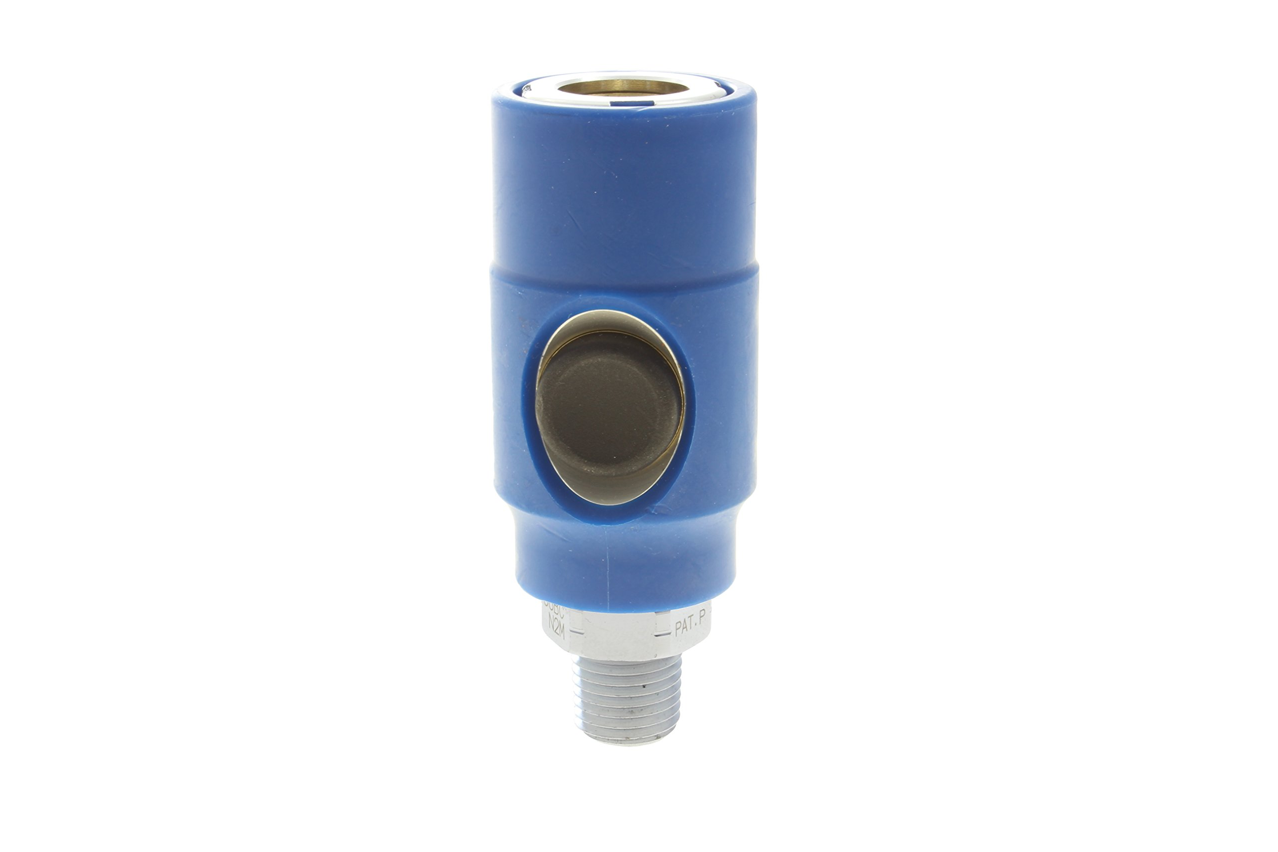 ATP Safety-Touch 38BC-N2M Push Button Safety Coupler, 1/4 Industrial Interchange, 3/8'' Male NPT, 0.250''