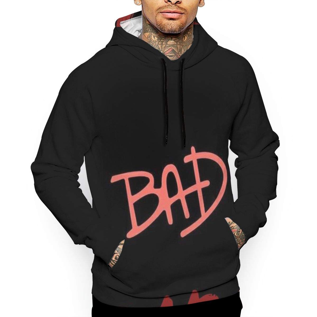 Bad Girl T-Shirt Hooded with A Pocket Rope Hat Customization Fashion Novelty 3D Mens