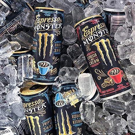 Espresso Monster Vanilla Cream, Espresso Energy Drink, 8 4 ounce (Pack of  12)