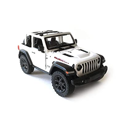 HCK Jeep Wrangler Rubicon 4x4 Convertible Off-Road Exploration Diecast Model Toy Car in White: Toys & Games